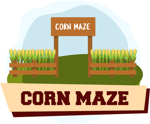 Corn Maze Illustration