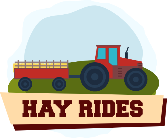 Hay Ride Illustration