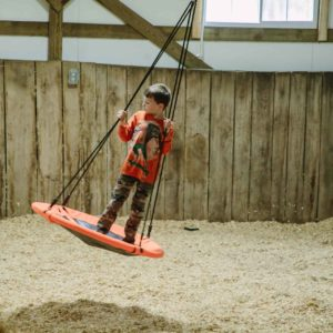 Swing in Indoor Play Barn