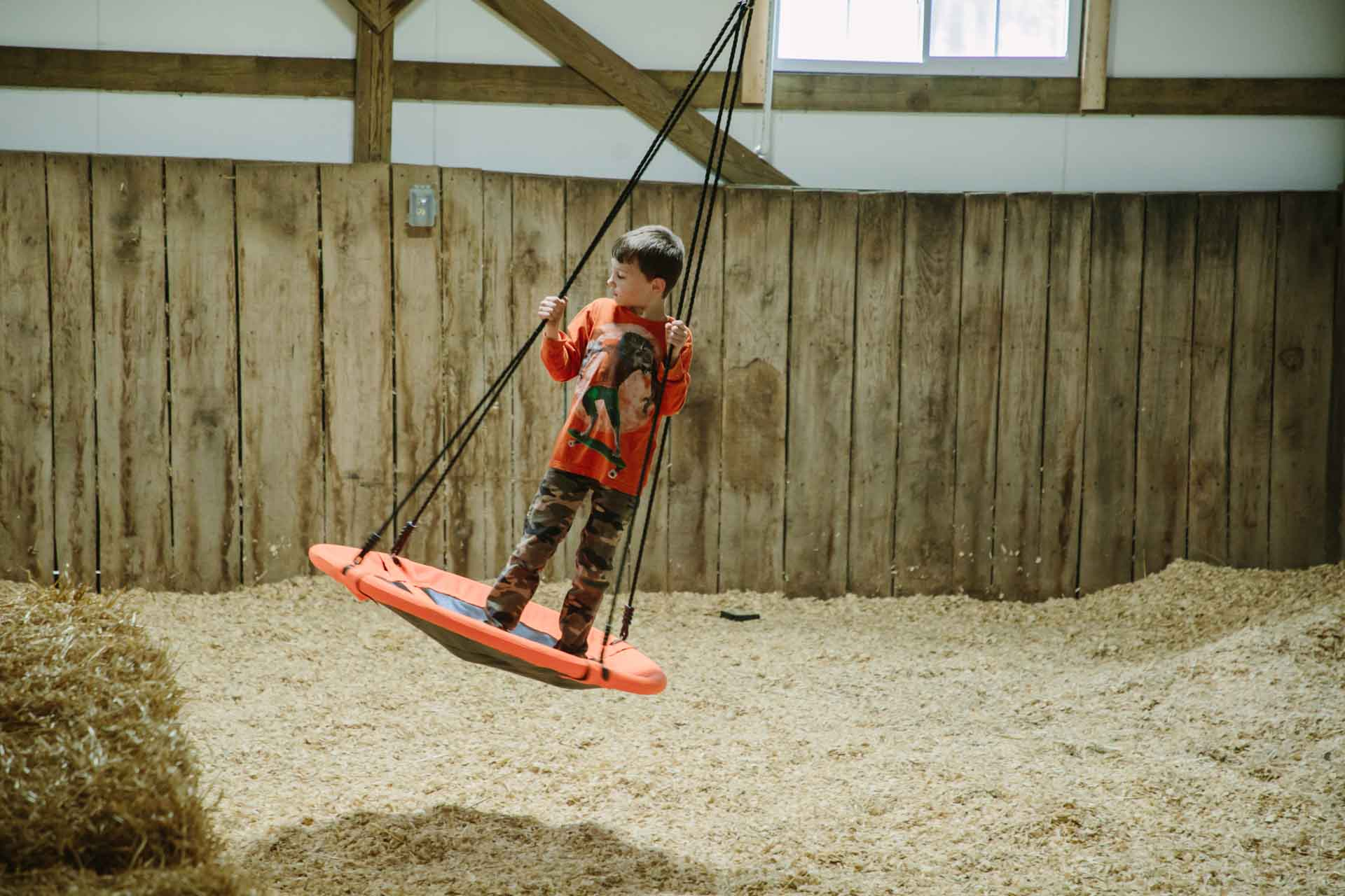 Swing in Indoor Play Barn