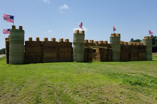Hay Castle & Hay Bale Maze at Country Roads Family Fun Farm - Stotts City, Missouri