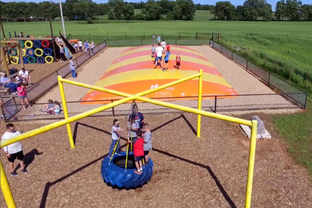 Outdoor Play Area at Country Roads Family Fun Farm - Stotts City, MO