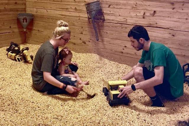 Corn Crib in the Play Barn - Kids Activities Missouri