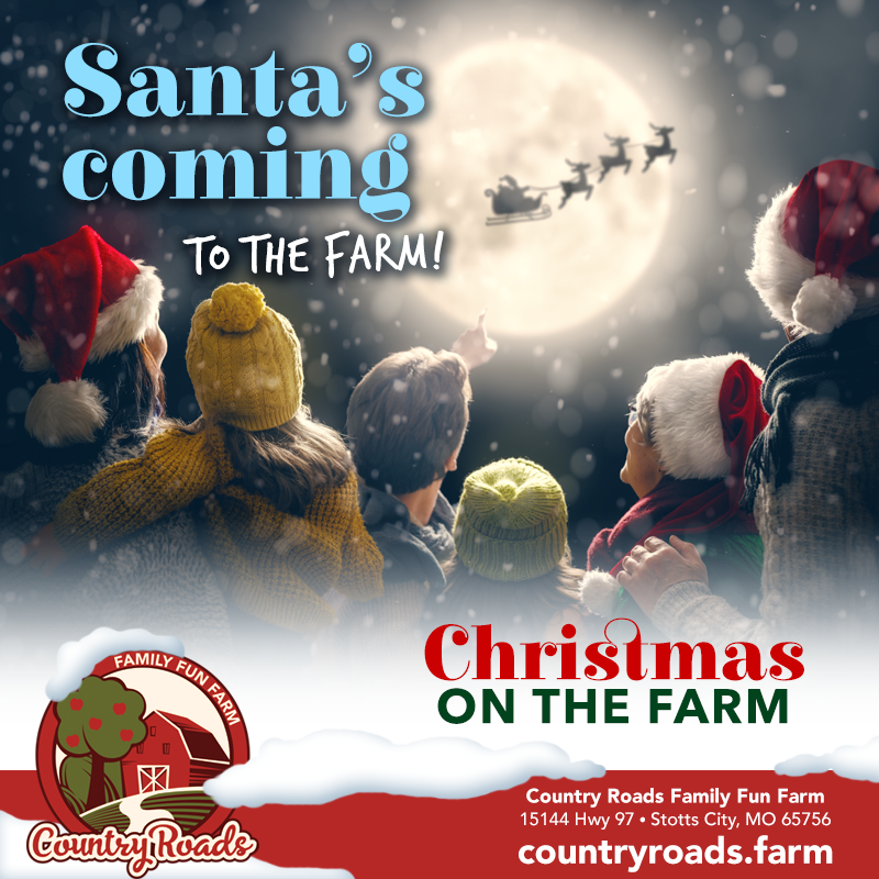 Santa's coming to the farm! Christmas on the Farm starts December 1st