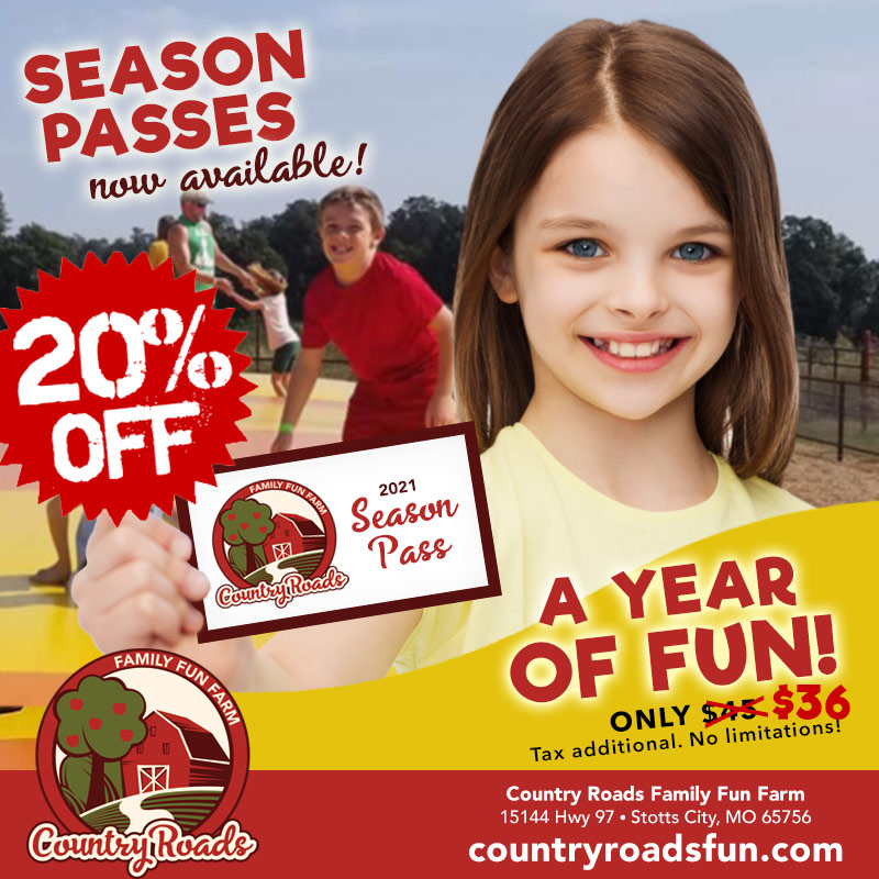 20% off 2021 season passes!