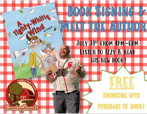 Book Signing at Country Roads - July 31, 2021